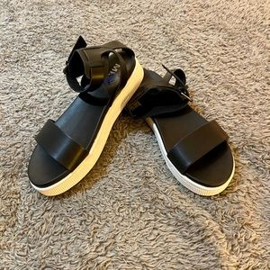 M.I.A. 1 inch platform sandals